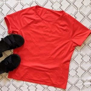Lou& Grey Red Workout short sleeve top